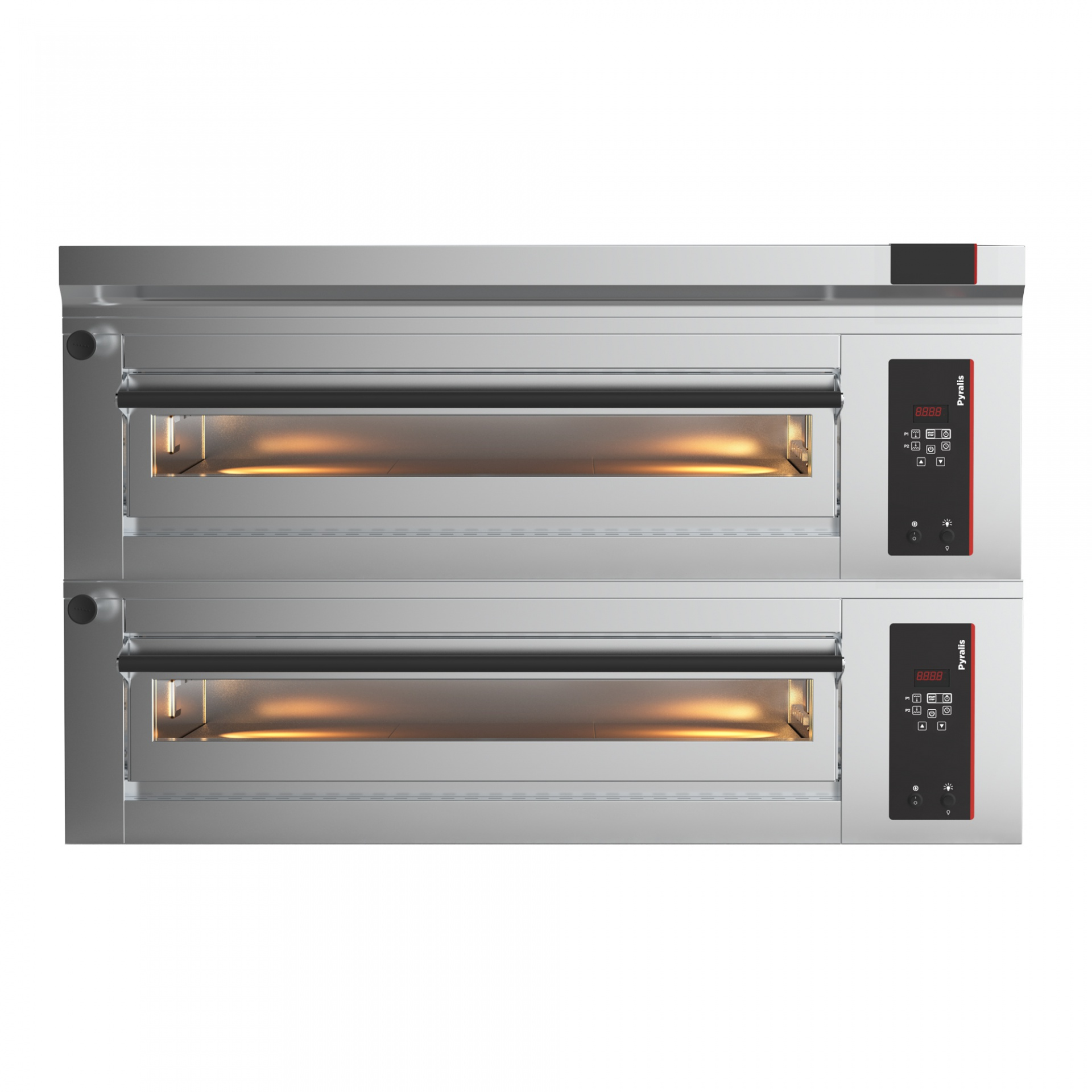 Elektrická pizza pec 2x4, celošamot., el. programovateľná D-8/FRC
