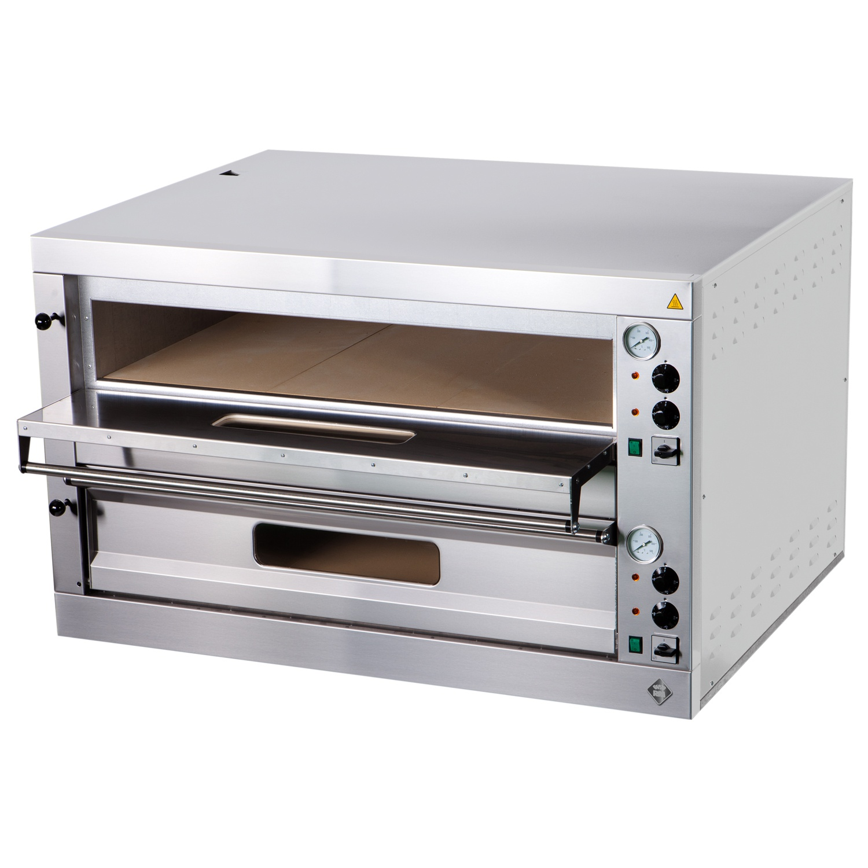 Elektrická pizza pec 2x9, celošamot., digit. teplomer