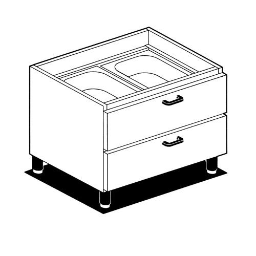 Podstavec so zásuvkami, MC-6