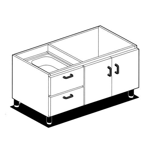 Podstavec so zásuvkami a dvierkami, MCP-10