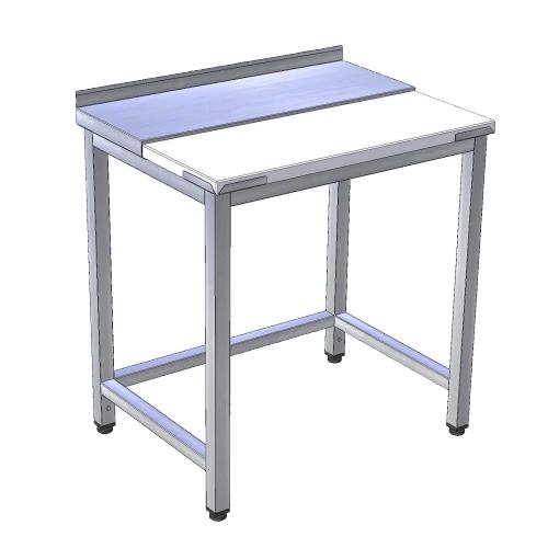 Stôl pracovný rozrábkový nerez / plast, PSR-1