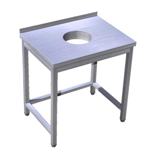 Stôl pracovný s otvorom na odpad, PSJ-7