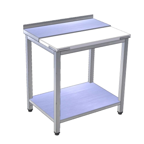 Stôl pracovný rozrábkový s policou nerez / plast, PSR-2