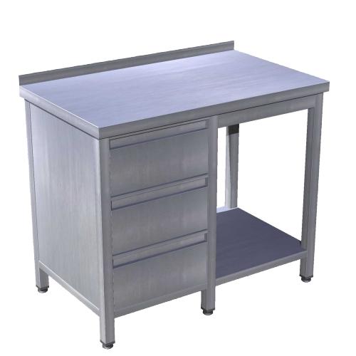 Stôl pracovný so zásuvkovým setom a policou, PSŠ-1