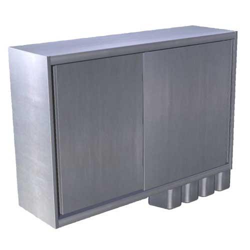 Skrinka nástenná s posuvnými dverami a koreničkami, NS-2k