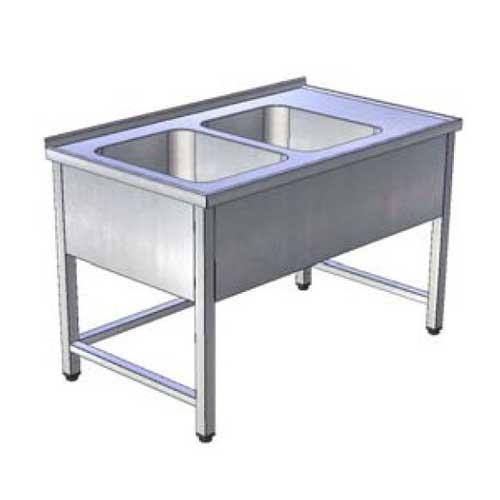 Stôl umývací 2 x drez, krytovaný, USN-3k