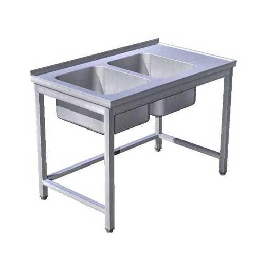 Stôl umývací 2 x drez, USN-3