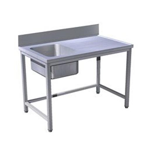 Stôl predumývací k umývačke so zvýšeným zadným lemom, USN-1