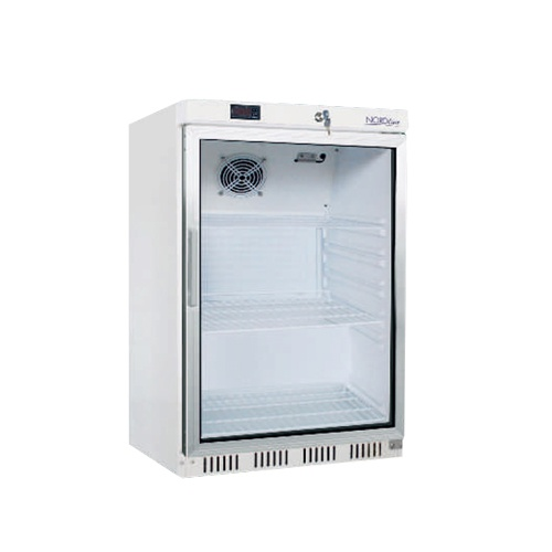 Chladnička podpult. biela presklená ventilovaná 200 l