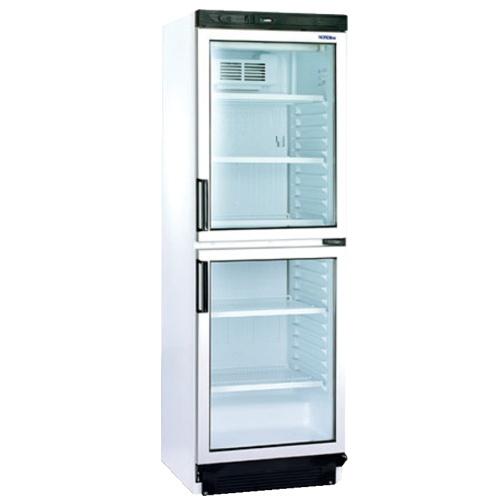 Chladnička biela presklená ventilovaná  dvojdverová 372 l