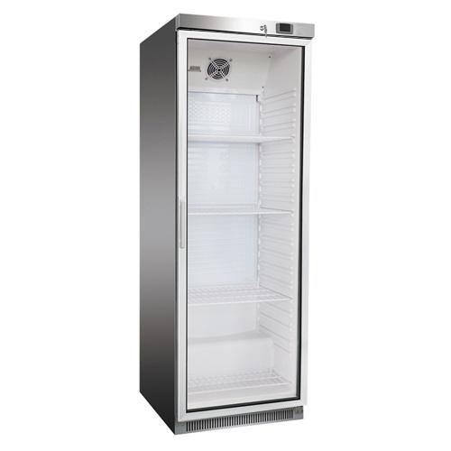 Chladnička nerezová presklená ventilovaná 350 l, DR-400GS