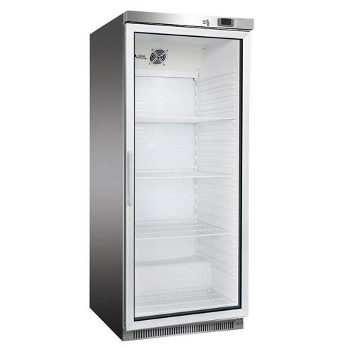 Chladnička nerezová presklená ventilovaná 570 l, DR-600GS