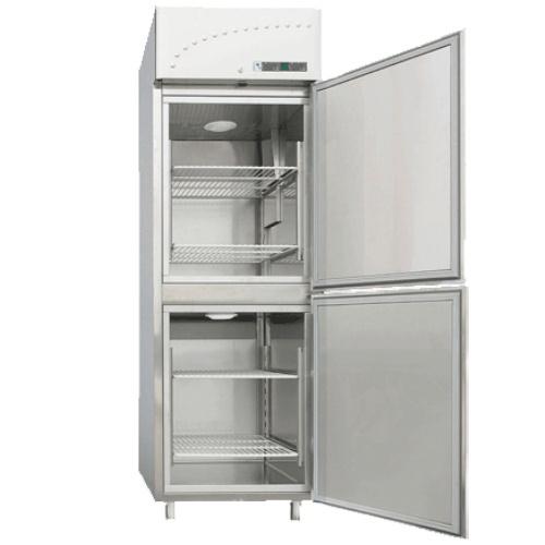 Chladnička/mraznička nerezová ventilovaná, 560 l