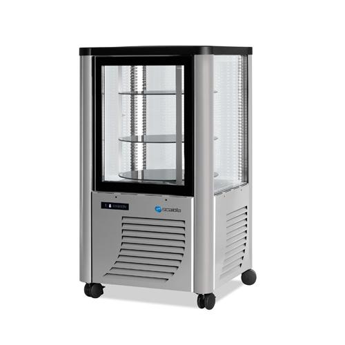 Vitrína chladiaca, otočné police, strieborná, 230 l-ERG-230/A