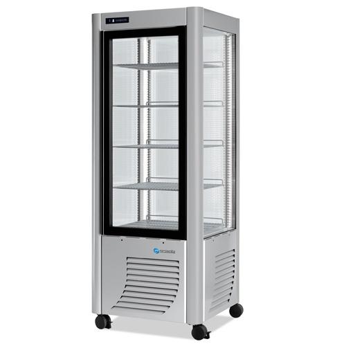 Vitrína chladiaca 400 l-ERF-400 strieb.