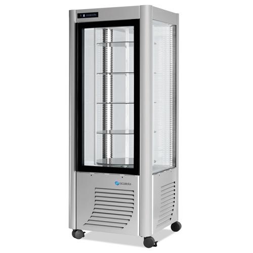 Vitrína chladiaca, otočné police, 400 l-ERG-400 strieb.