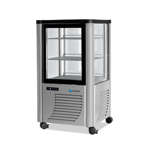 Vitrína chladiaca, roštové police, 230 l-ERF-230 strieb.