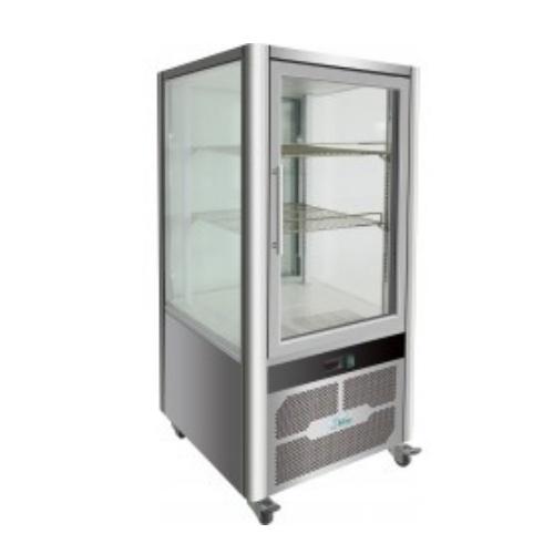 Vitrína chladiaca, roštové police, nerezová, 200 l-VGP-200R