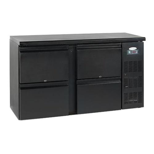 Stôl chladiaci barový, 4 x zásuvka, antracit , CBC-210