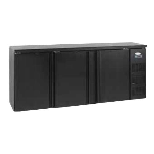 Stôl chladiaci barový, 3 x dvere, antracit-CBC-310