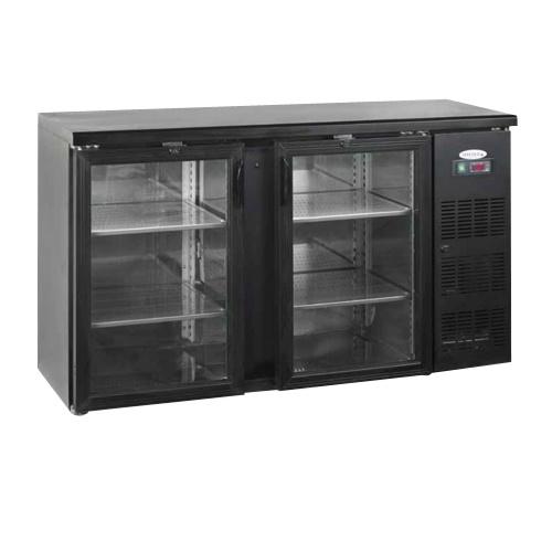 Stôl chladiaci barový, 2 x presklené dvere, antracit-CBC-210G