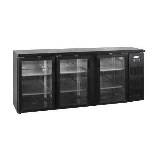 Stôl chladiaci barový, 3 x presklené dvere, antracit-CBC-310G