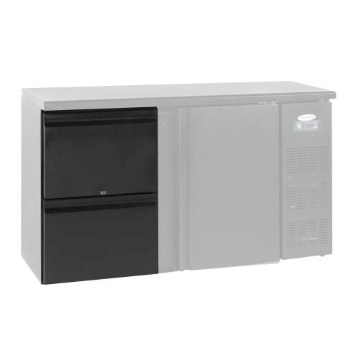 Zásuvkový set 2 x 1/2 k chladiacim barovým stolom-CBC-DRAW