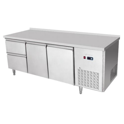 Stôl chladiaci, 2 x dvere, 2 x zásuvka