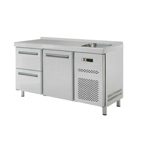 Stôl chladiaci s drezom, 1 x dvere, 2 x zásuvka-RT-2D-1D2Z-S