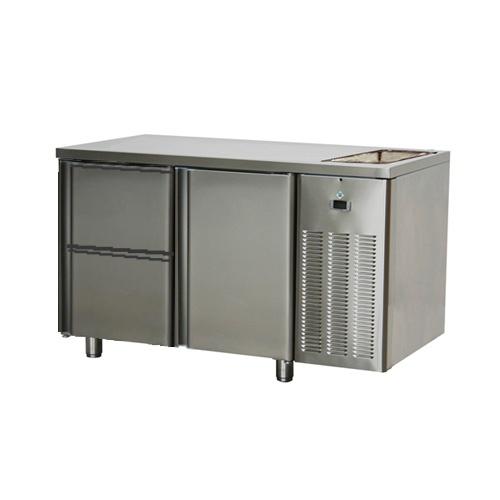 Stôl chladiaci s drezom, 1 x dvere, 2 x zásuvka