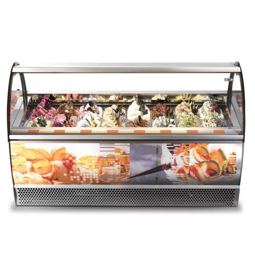 Vitrína zmrzlinová 12 x GN-MILENNIUM SP-12