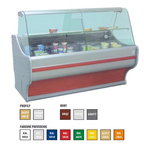 Vitrína chladiaca 300 l-WCh-1/B/1200