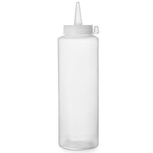 Fľaša na polevu transparentná