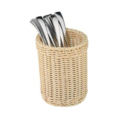 Košík na príbory pletený