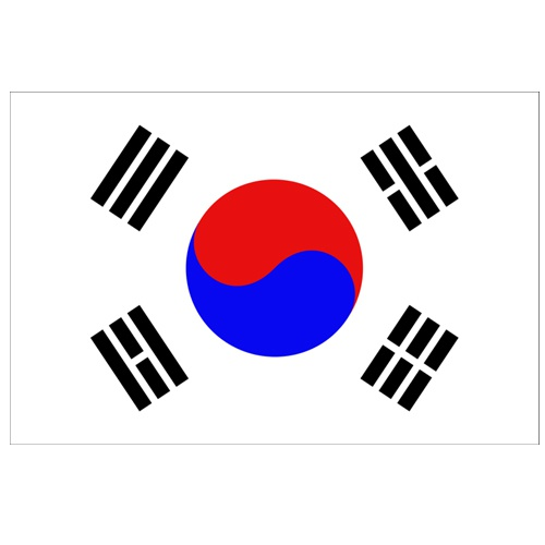 Vlajka Južná Korea