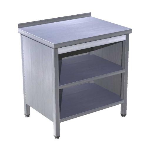 Stôl pracovný krytovaný s 2 policami 1600x700