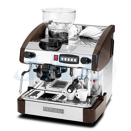 Kávovar 1 páka, mlynček,kapučinátor, 100káv/h, EMC 1P/W/M/C