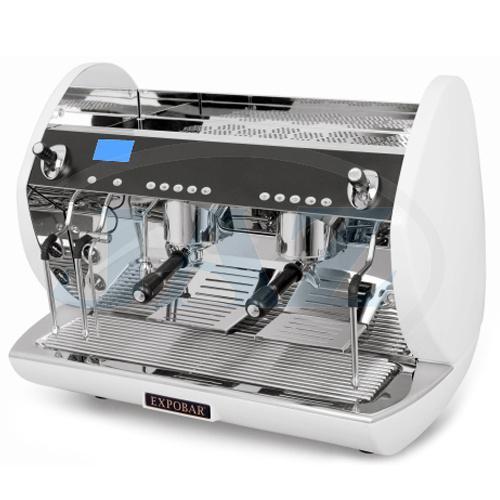 Kávovar 2 páky, Turbo steamer white, 200káv/h, Carat Display control-2P/TS/WH