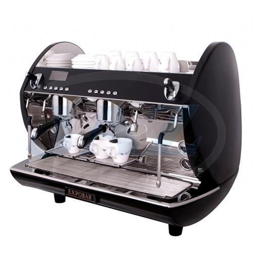 Kávovar 2 páky, turbo steamer black, 200káv/h, Carat Display control 2 P/TS/BL