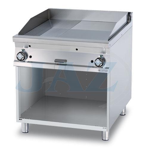 Platňa smažiaca plyn. hladká / ryhovaná, 800/900, FTLR-98G
