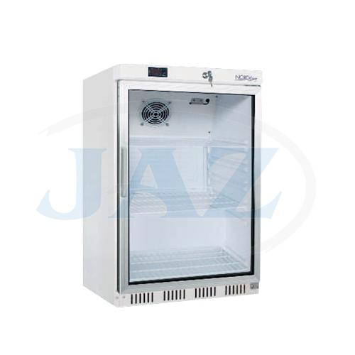 Chladni�ka podpult. biela presklen� ventilovan� 200 l, UR200G/HR200G