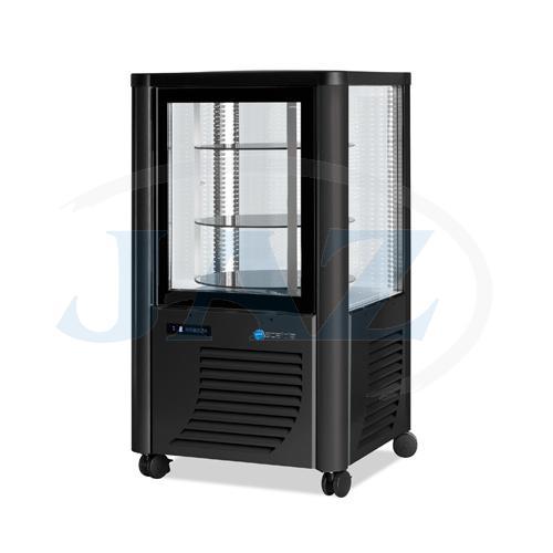 Vitrína chladiaca, otočné police, tmavá, 230 l, ERG230/G
