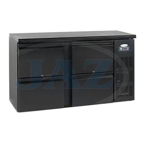 Stôl chladiaci barový, 4 x zásuvka, antracit, CBC240