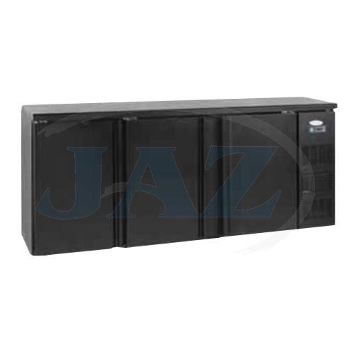 Stôl chladiaci barový, 3 x dvere, antracit, CBC310