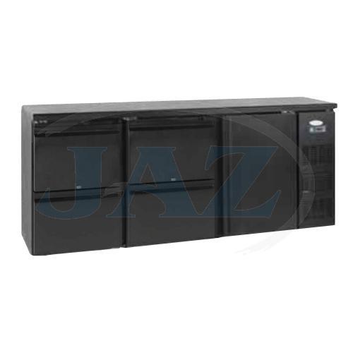 Stôl chladiaci barový, 4 x zásuvka, 1 x dvere, antracit, CBC340