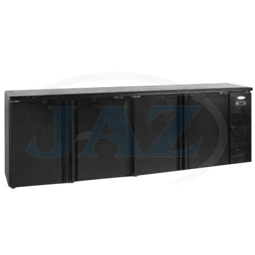 Stôl chladiaci barový, 4 x dvere, antracit, CBC410