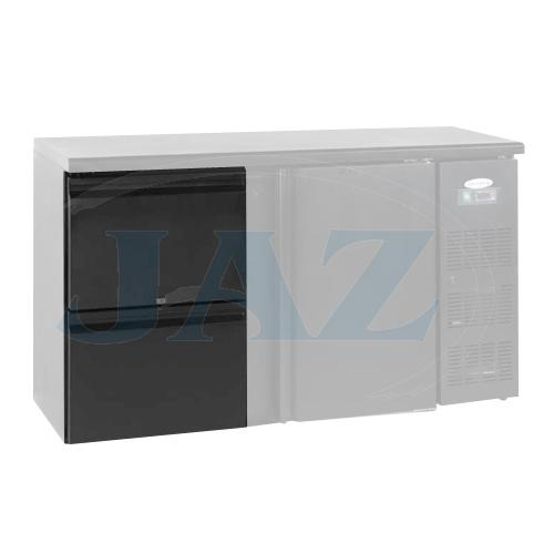 Zásuvkový set 2 x 1/2 k chladiacim barovým stolom, CBC-DRAW
