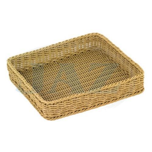 Košík na pečivo polyratan 35x32,5