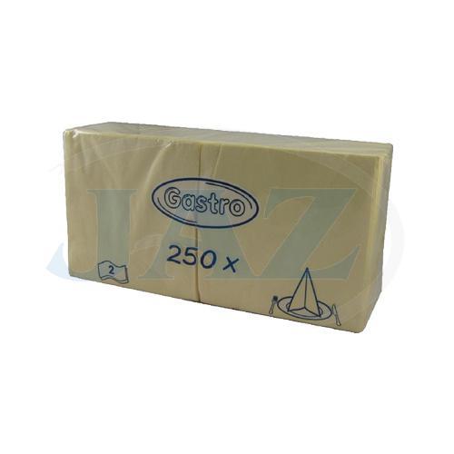 Servítky béžové - 250ks