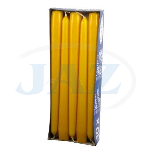 Sviečky žlté - 10ks